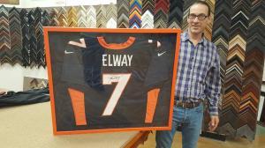 Elway shirt framed