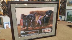 Cadillac puppies framed picture