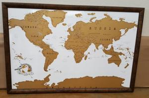 Framed Vintage Map